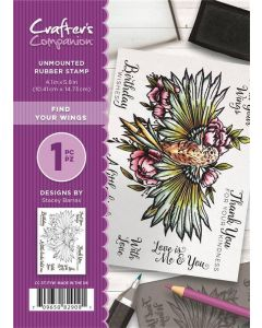 Crafter's Companion A6 Rubber Stamp - Find Your Wings