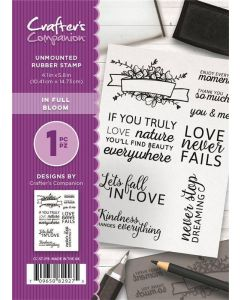 Crafter's Companion A6 Rubber Stamp - In Full Bloom