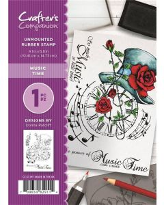 Crafter's Companion A6 Rubber Stamp - Music Time