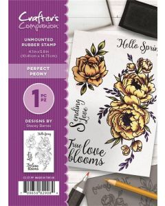 Crafter's Companion A6 Rubber Stamp - Perfect Peony