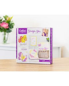 Crafter's Companion Monthly Craft Kit 12 - Floral Stamp and Die Kit (Individual Purchase)