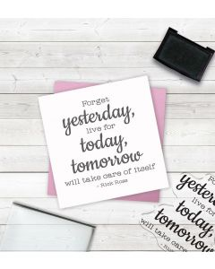 Crafter's Companion Clear Acrylic Stamp - Yesterday, Today, Tomorrow