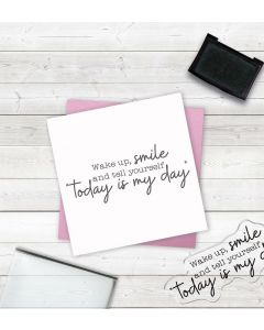 Crafter's Companion Clear Acrylic Stamp - Wake Up, Smile