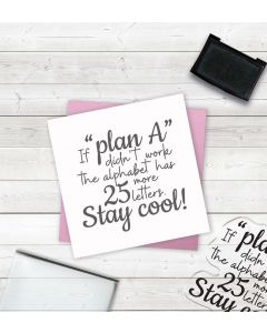 Crafter's Companion Clear Acrylic Stamp - Plan A