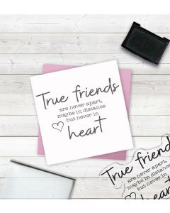 Crafter's Companion Clear Acrylic Stamp - True Friends