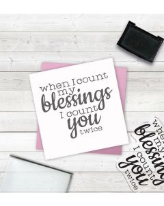 Crafter's Companion Clear Acrylic Stamp - Count My Blessings