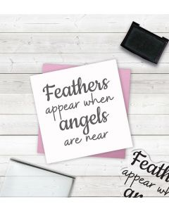 Crafter's Companion Clear Acrylic Stamp - Angel Feathers