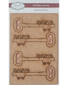 Creative Expressions Art-Effex MDF Boards - Santa Keys