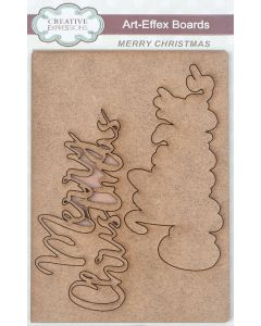 Creative Expressions Art-Effex MDF Boards - Merry Christmas