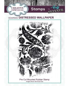 Creative Expressions Rubber Stamp by Andy Skinner - Distressed Wallpaper