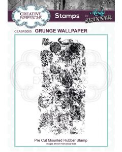 Creative Expressions Rubber Stamp by Andy Skinner - Grunge Wallpaper