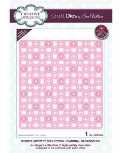 Craft Dies by Sue Wilson Filigree Artistry Collection - Diagonal Background