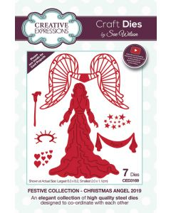 Creative Expressions Festive Collection Craft Die - Christmas Angel 2019