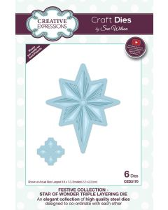 Creative Expressions Festive Collection Triple Layering Die - Star Of Wonder