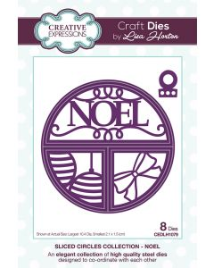 Creative Expressions Sliced Circles Collection Die Set - Noel