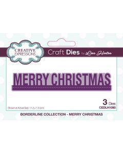 Creative Expressions Borderline Die Set - Merry Christmas