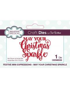 Creative Expressions Festive Mini Expressions Craft Die - May Your Christmas Sparkle