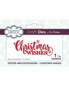 Creative Expressions Festive Mini Expressions Craft Die - Christmas Wishes