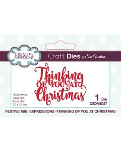 Creative Expressions Festive Mini Expressions Craft Die - Thinking Of You At Christmas