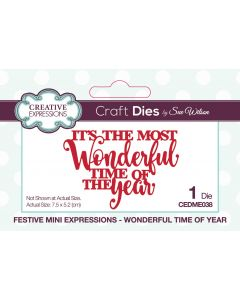 Creative Expressions Festive Mini Expressions Craft Die - Wonderful Time Of Year