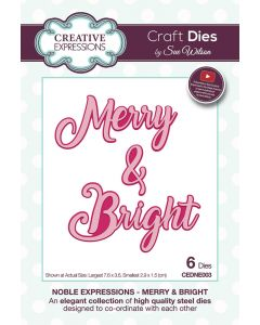 Creative Expressions Noble Expressions Craft Die - Merry & Bright