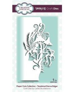 Creative Expressions Paper Cuts Collection - Toadstool Dance Edger Craft Die