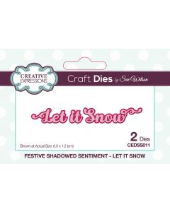 Creative Expressions Festive Shadowed Sentiment Craft Die - Let It Snow