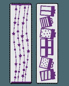 Gemini Embossing Folder (2PC) - Celebration Borders