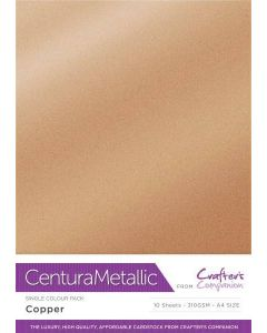 Centura Pearl Metallic A4 Single Colour 10 Sheet Pack - Copper