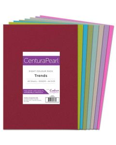 Crafter's Companion Centura Pearl A4 Card Pack - Trends