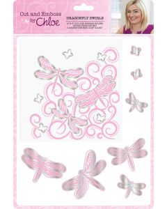 Cut and Emboss by Chloe – Dragonfly Swirls