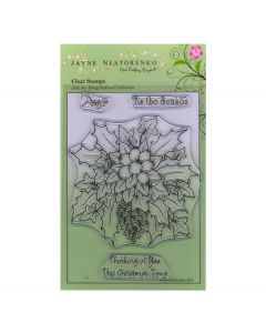 Claritystamp Jayne Nestorenko Stamp Set - Christmas Holly and Berries