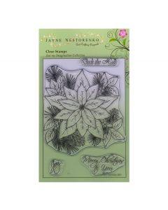 Claritystamp Jayne Nestorenko Stamp Set - Christmas Poinsettia