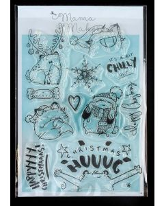 Mama Makes Clear Photopolymer Stamps - Christmas Hug