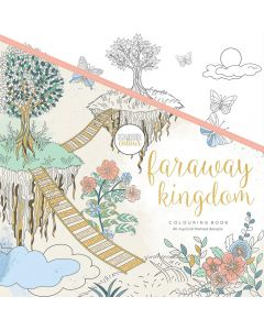 "KaiserColour Perfect Bound Coloring Book 9.75""X9.75"" - Faraway Kingdom"