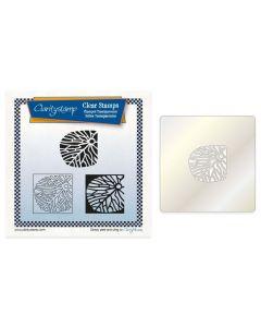 Claritystamp A5 Square Stamp Set + Stencil - Fossil Petal Tile