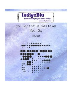 IndigoBlu Collectors Edition Rubber Stamp - Number 24 - Dots