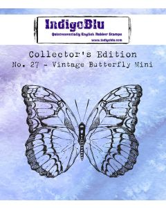 IndigoBlu Collectors Edition Mini Rubber Stamp No.27 - Vintage Butterfly