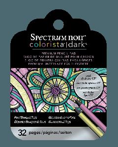 Spectrum Noir Colorista Dark Tag Pencil Pad - Floral Bouquet