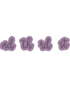 Gemini Expressions Metal Die - Number Suffixes