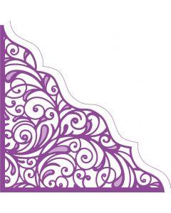 Gemini Create-a-Card Corner Tessellating Dies - Ornate Swirls