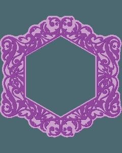 Gemini Shaped Cut and Emboss Folder - Vichy Frame