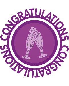 Gemini Circle Sentiments Stamps and Die - Congratulations