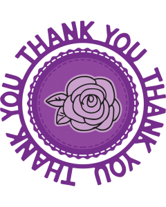 Gemini Circle Sentiments Stamps and Die - Thank You