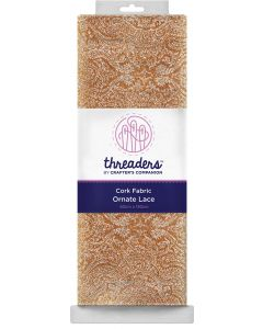 Threaders Cork Fabric - Ornate Lace