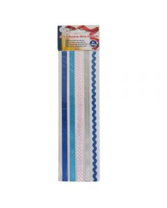 Craft Sensations Self Adhesive Ribbons 5 x 50cm - Blue and Pink