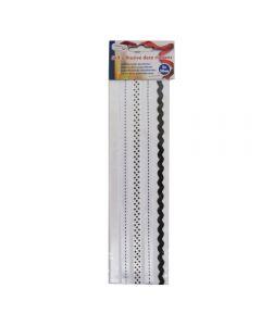 Craft Sensations Self Adhesive Ribbons 5 x 50cm - Black and White