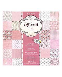 "Craft Sensations 12""x12"" Design Pad 250gsm - Soft Sweet Pink"