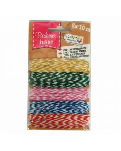 Craft Sensations Bakers Twine - Yellow, Green, Pink, Blue, Orange