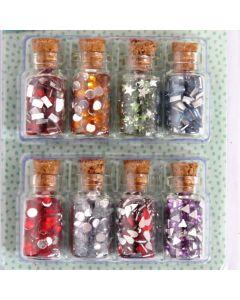 Craft Sensations Mini Craft Bottles - Gemstone Shapes